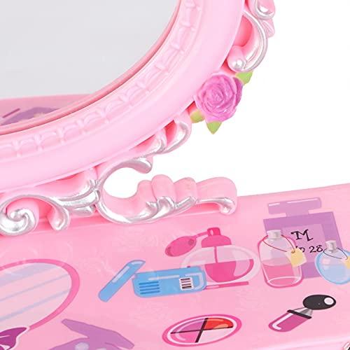 Hatirea Caja de Almacenamiento de joyería de plástico, Caja de música, para almacenar Joyas, Pendientes, Collares, Pulseras