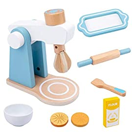 #N/A Qihang Children Kitchen Wooden Playset Toys,Kitchen Utensils Set Role Playing Game Educational Learning Tool for…