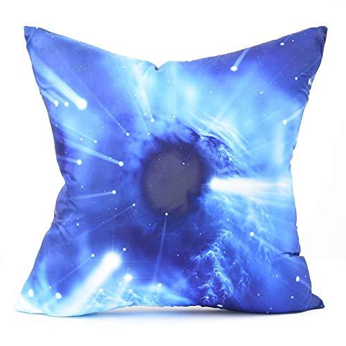 Jiaquhome Super Black Hole Planets Galaxy Cushion Cover Cosmos Starry Blue Pillow Covers Decorative Chair Sofa Throw Pillows 2pc