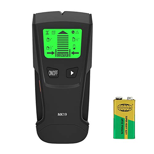 Stud Sensor with Large LCD Display, Meterk Stud Finder Wood Studs Center Finder Multi Wall Detector For Metal, AC Live Wire, Wood Finder with Warning