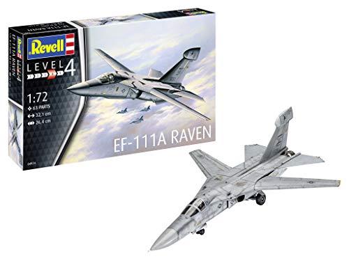 Revell 04974 EF-111A Raven originalgetreuer Modellbausatz für Fortgeschrittene, unlackiert