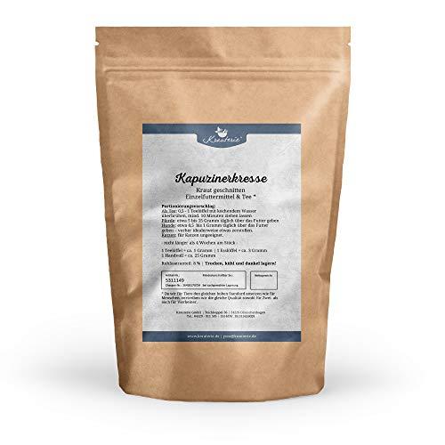 Krauterie Kapuzinerkresse getrocknet & geschnitten in Spitzenqualität für Pferde & Hunde, frei von Zusätzen (500 g)