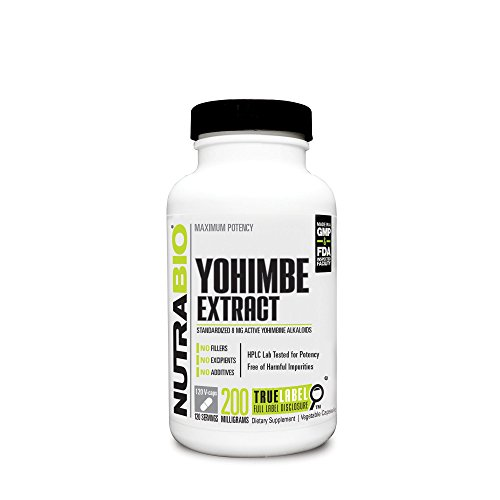 NutraBio Yohimbe (200 mg) 120 Vegetable Capsules