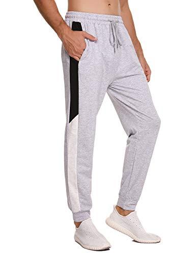 Sykooria Pantalones de chándal Hombre Pantalon Largo Deportivo de Punto con Cordones Pantalones Deportivos con Cintura con cordón para Correr Gimnasio