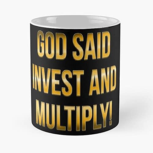 God Said Invest and Multiply – Eat Food Bite John Best 11 oz Kaffeetasse aus Keramik, Weiß
