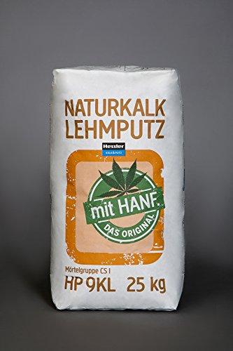 Bio-Naturkalk-Lehm-Grundputz mit Hanf 25 kg im Sack