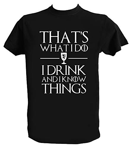 Camiseta Juego de Tronos I Drink and I Know Things Tyrion Lannister Series TV, 7-8 Años