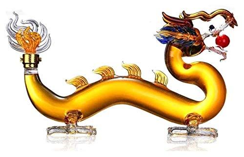 HAOKTSB Dragon Formado Decantador, Transparent Craft Gifts Creative Decantador de Whisky