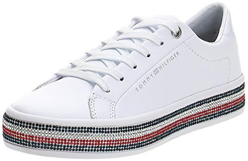 Tommy Hilfiger Damen Jupiter 18a2 Sneaker, Beige (White Ybs), 39 EU