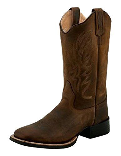 "Old West Women's 11"" Western Boot Wide Square Toe Brown 9.5 M"