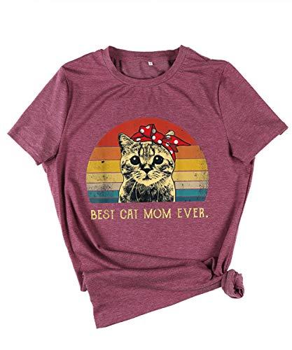 Camisetas Mujer Verano Manga Corta Basicas Estampadas Graciosas con Frases Tops Camisetas Algodon Los Suaves Dibujos Animados Camisetas Dia De La Madre Divertidas Retro Casual Pasta De Judías