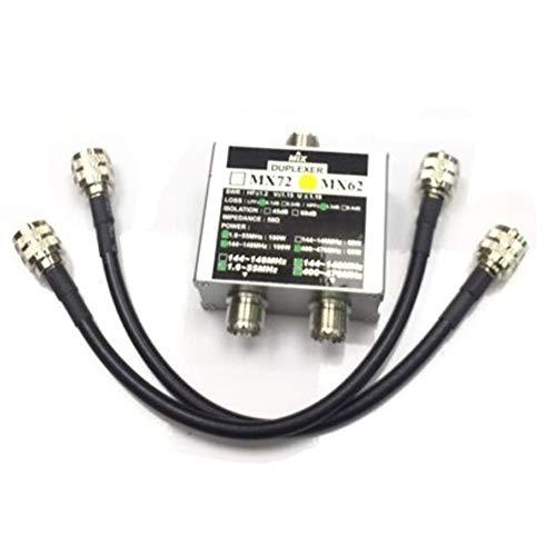 Suading MX62 HAM Antena Combinador Diversa Frecuencia (HF/VHF/UHF) Combinador Linear Duplexer Estación de Tránsito