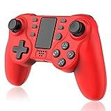 TUTUO Mando Inalámbrico para PS4, Dualshock 4 Wireless Bluetooth Controlador Controller Gamepad Compatible con Playstation 4 (Rojo)