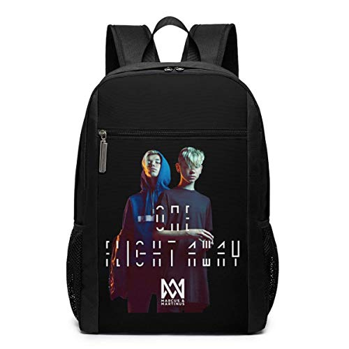 WLQP Marcus & Martinus Student Laptop Backpack College Youth School Bag Travel Backpack for Men&Women 17 Inch
