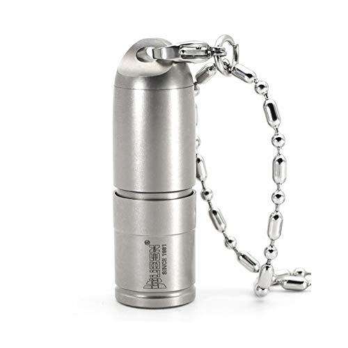WUBEN G338 Mini linterna led Micro USB Llavero recargable Linterna Collar de metal de titanio Luz