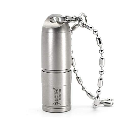 WUBEN G338 Mini linterna led Micro USB Llavero recargable Linterna Collar de metal de titanio Luz con batería de iones de litio 10180