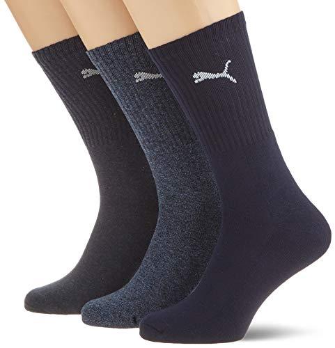 PUMA Unisex Crew Socks Socken Sportsocken MIT FROTTEESOHLE 6er Pack navy 321 - 43/46