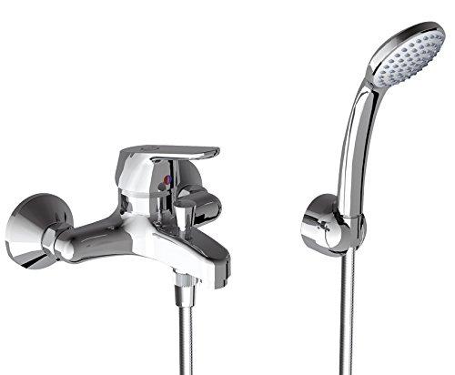 Ideal Standard B0256AA Ceraplan II Miscelatore monocomando esterno vasca/doccia con accessori, cromato