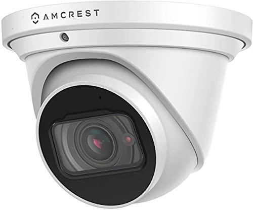 Amcrest 4K Optical Zoom IP Camera, Motorized Lens, 8MP Outdoor POE Camera Dome, 4X Optical Zoom Security Camera Turret, 2.7mm~12mm Lens, IP67 IK10 Vandal Resistant, Built-in Mic, (IP8M-MT2544EW)