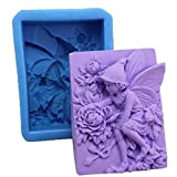 Kacniohen Chic-Fee-Blumen-Seifen-Form-Multi Verwendung Schokolade Silikon-Form Exquisite...