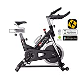 AsVIVA Indoor Cycle Speedbike S14 Bluetooth | inkl. SPD Klickpedale & Brustgurt (Pulsgurt)