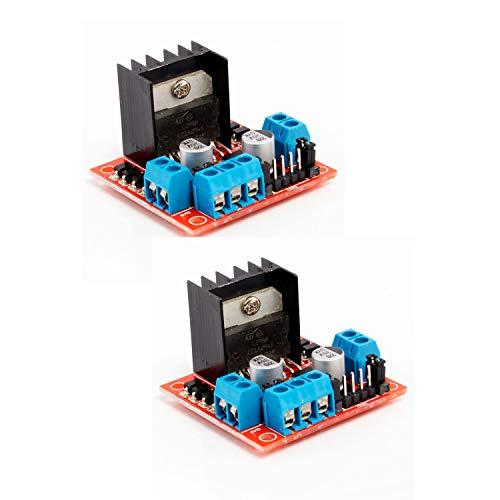 Neuftech 2X L298N Dual H Puente DC de Conductor del Motor de Pasos del Controlador para arduino