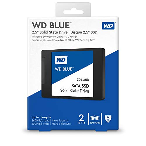 WD Blue 3D NAND Internal SSD 2.5 Inch SATA - 2 TB, Blue - High Performance
