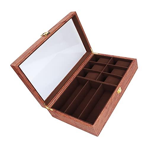 Caja de reloj, maravilloso accesorio Cubierta de vidrio transparente Caja de almacenamiento de reloj para almacenamiento de relojes Multitud para almacenamiento de relojes
