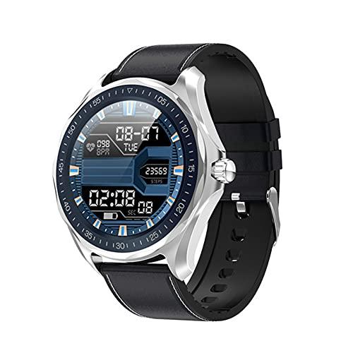 LHL Smart Watch, IP68 Impermeable, S09 Plus, presión Arterial/Ritmo cardíaco/Monitor de sueño Fitness para Hombre para Android/iOS,B