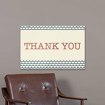 Nautical Wave Premium Acrylic Sign 27x18 CGSignLab Thank You