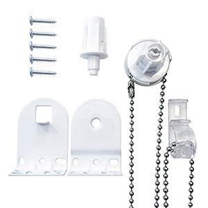 Kit de Repuesto para persiana Enrollable de 25 mm, Color Blanco Resistente