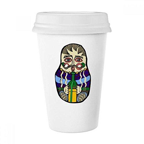 Trinken Wein Russland Matroschkas im Female Classic Becher weiß Keramik Keramik Tasse Kaffee Milch Tasse Geschenk 350ml