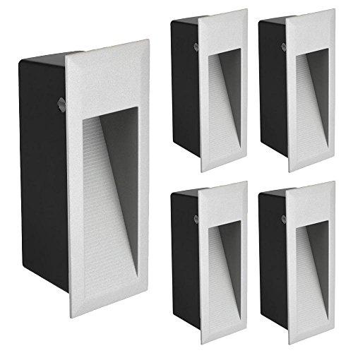 blanc chaud Ledscom de LED de mur encastré zibal pour extérieur 140x70mm