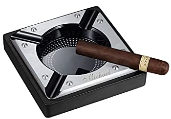 Visol Personalized Wood Cigar Ashtray with Free Engraving