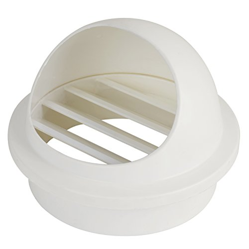 Hon&Guan 4'' ABS Round Bull Nosed External Extractor Wall Vent Outlet Air Vent Grill Cover for Ventilation (φ100mm)