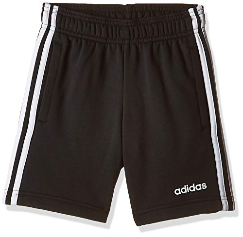 Adidas Youth Boys Essentials 3 Stripes Knit Short, Shorts Bambino, Black/White, 13-14A