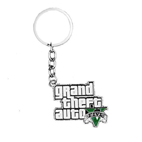 WZLDP Grand Theft Auto Keychain Colgante-pequeño Regalo Llavero