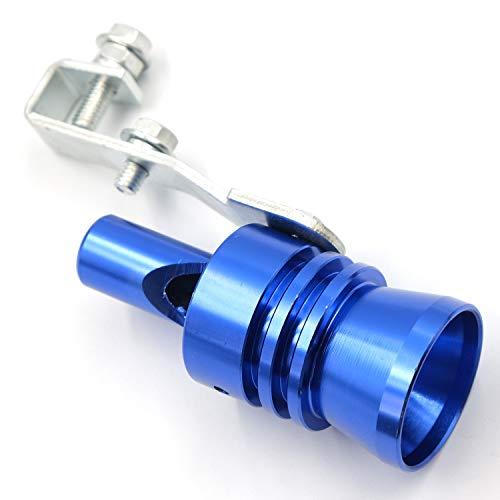 AutoE Car Turbo Sound Whistle Exhaust Tailpipe Blow Off Valve Bov Aluminum Universal Auto Accessories Size XL (Blue)