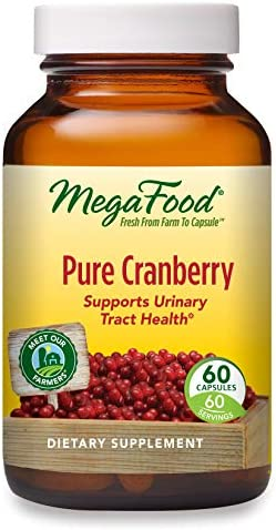MegaFood Pure Cranberry 60 Capsules Supports Urinary Tract and Immune Health Whole Food Supplement product image