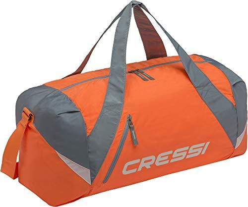 Cressi Unisex– Erwachsene Palawan Bag Geräumige Mehrzweck Sport Tasche, Orange/Grau, 55x20x30