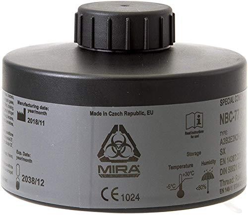 MIRA Multi Gas Vapor Cartridge Respiratory Protection 20 Years Shelf Life CBRN NBC Grade (CBRN Filter NBC-77 SOF)