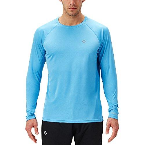 Naviskin Men's Sun Protection UPF 50+ UV Outdoor Long Sleeve T-Shirt Blue Size L