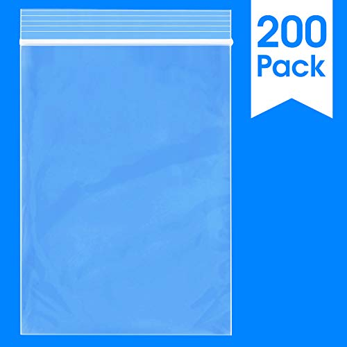 Spartan Industrial    200 Count - 4 X 6 - 2 Mil Clear Plastic Reclosable Zip Poly Bags with Resealable Lock Seal Zipper (More Sizes Available)