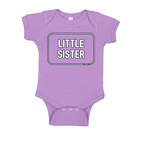Baby Photography Outfits for Baby Younger Sister Gifts Little Sister Bodysuit 12 Months Lavender