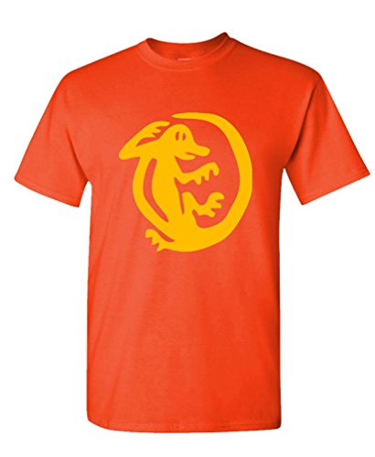 Orange Iguanas - 90's Retro tv Game Show - Mens Cotton T-Shirt, XL, Orange