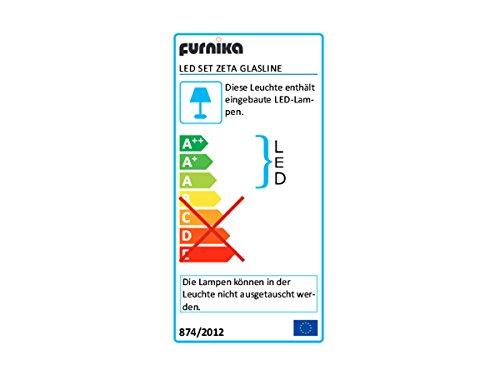 CHIP Wohnwand / Anbauwand grau Hochglanz inkl. LED - 2