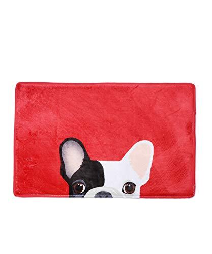 Nayo The Corgi - Frenchie French Bulldog Door Mat (Red)