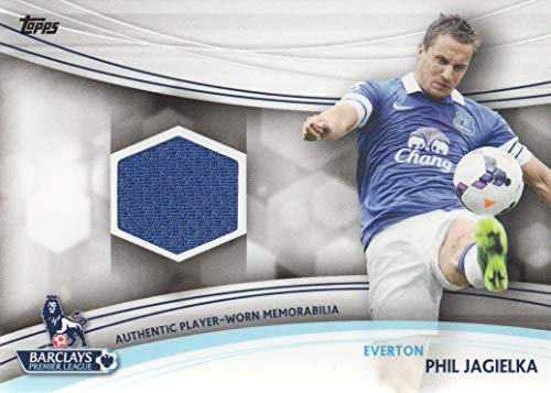 2013-14 Topps EPL Premier League Gold Soccer Jersey Relic #JR-PJ Phil Jagielka Everton