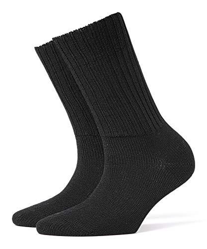 BURLINGTON Damen Socken Plymouth, 91% Schurwolle, 1 Paar, Schwarz (Black 3000), Größe: 36-41