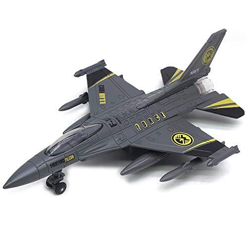 Flugzeugmodell-Modell-Modell, militärisches Flugzeugmodell, US-F16-Kampfflugzeug, 8,6-Zoll-Legierungs-Flugzeugmodell, for Militär-Enthusiasten Co (Flugzeugmodelldekoration Xping ( Color : Black )